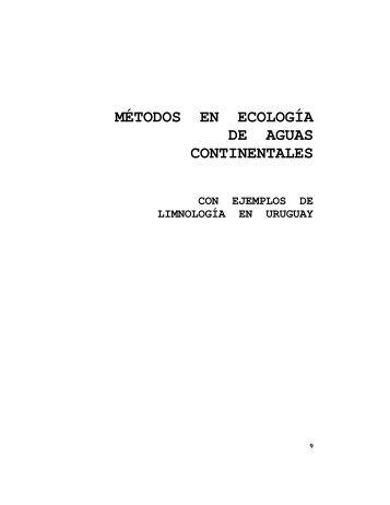 descargar libro pdf (6.5 mb) - Sección Limnología - Facultad de ...