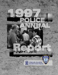 1997 Police Annual Report - City of Lincoln & Lancaster County