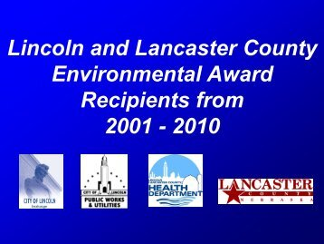 Past Awards Recipients - City of Lincoln & Lancaster County
