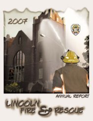 2007 Annual Report - City of Lincoln & Lancaster County - State of ...