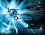 2011 Annual Report - City of Lincoln & Lancaster County