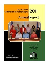 2011 - City of Lincoln & Lancaster County