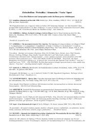 Zeitschriften / Periodika / Almanache / Varia / Sport - Antiquariat ...