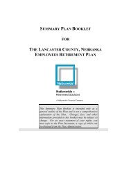 Nationwide Retirement Plan for Lancaster County - City of Lincoln ...