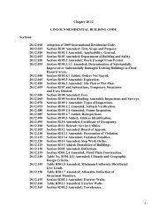 LMC Chapter 20.12 -Lincon Residential Building Code