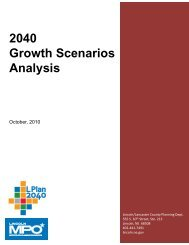 Growth Scenario Analysis Report - City of Lincoln & Lancaster ...