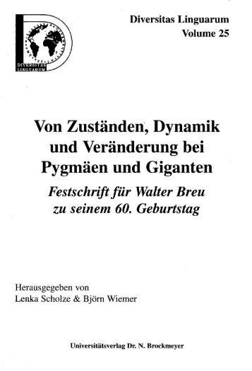 Verbstellung im Sprachkontakt - das Obersorbische und ...