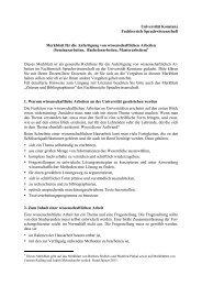 Merkblatt für die Anfertigung von wissenschaftlichen Arbeiten
