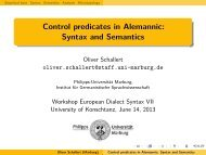 Control predicates in Alemannic: Syntax and Semantics