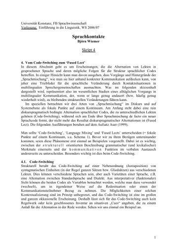 Universität Konstanz, FB Sprachwissenschaft