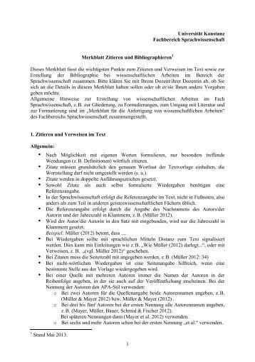 Bibliographieren dissertation