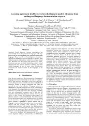 Assessing agreement level between forced alignment ... - Linguistics