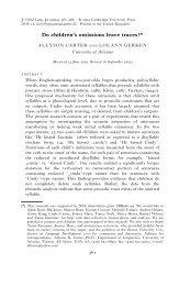Carter, A., and Gerken, L. - Linguistics