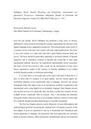 Eddington, David. Spanish Phonology and Morphology ...