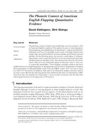 The Phonetic Context of American English Flapping - Department of ...