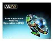 HFSS Application Modeling Connectors in HFSS - Ansys