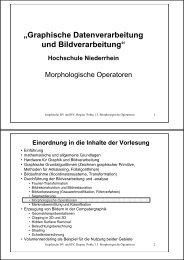 Thema 15: Morphologische Operationen - Hochschule Niederrhein