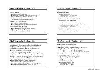 Einführung in Python (3)