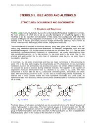 Sterols 5. Bile acids and alcohols: structure, occurrence - Lipid Library
