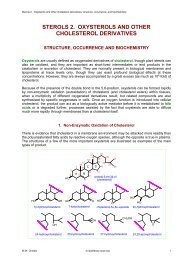 sterols 2. oxysterols and other cholesterol derivatives - Lipid Library