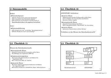 2 Datenmodelle 2.1 Überblick
