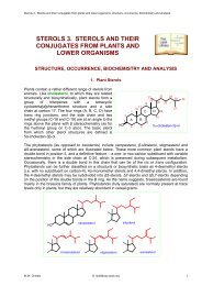 STEROLS 3. STEROLS AND THEIR CONJUGATES ... - Lipid Library