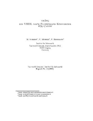 vh2fg ein VHDL nach Flussgraph Konverter f ur Caddy