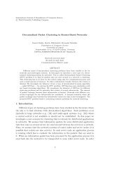 Decentralized Packet Clustering in Router-Based Networks 1 ...