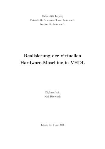 Realisierung der virtuellen Hardware-Maschine in VHDL