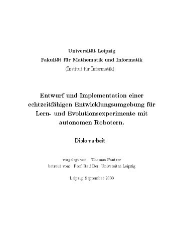 Universit at Leipzig Fakult at f ur Mathematik und Informatik (Institut f ...