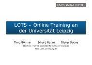 LOTS – Online Training an der Universität Leipzig