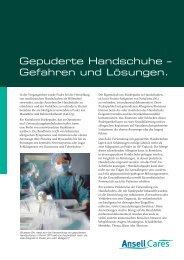 Download des vollständigen Dokuments (pdf) - Ansell Healthcare ...