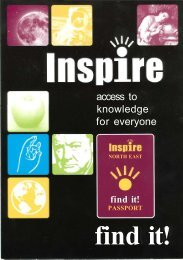 INSPIRE North East - Library & information services