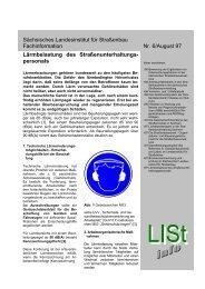 Sächsisches Landesinstitut für Straßenbau Fachinformation Nr. 6 ...