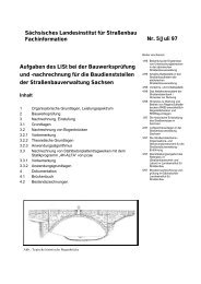 Sächsisches Landesinstitut für Straßenbau Fachinformation Nr. 5 ...