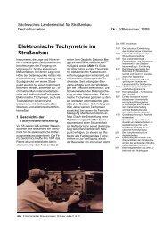 Elektronische Tachymetrie im Straßenbau