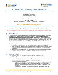 Providence Community Grants Council - State of Oregon