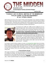 Newsletter of the Archaeological Society of Central ... - State of ...