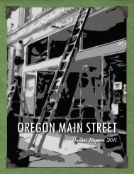 Performing Main Street - State of Oregon
