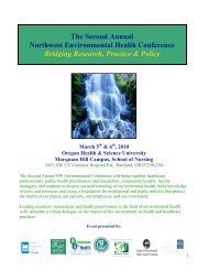 The Second Annual Northwest Environmental Health Conference ...
