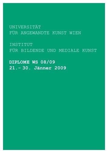 Universität für AngewAndte KUnst wien institUt für Bildende Und ...