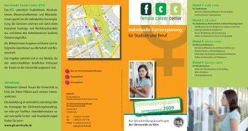 Seminarprogramm - Universität zu Köln
