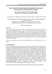 Neue Strategie zur Regulierung des Kartoffelkäfers (Leptinotarsa ...