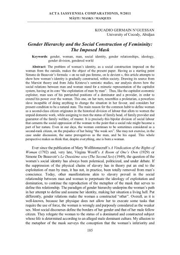 Gender Hierarchy and the Social Construction of Femininity: The ...