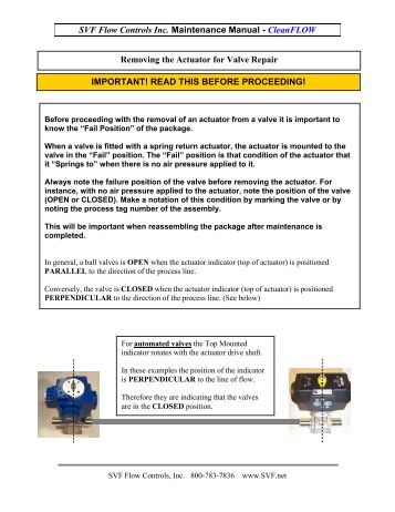 SVF Flow Controls Inc. Maintenance Manual - Puerto Rico Suppliers ...