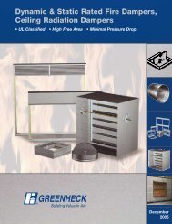 Dynamic & Static Rated Fire Dampers, Ceiling Radiation Dampers