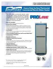 Heavy-Duty Surface Thermostat Commercial Electric Water Heater
