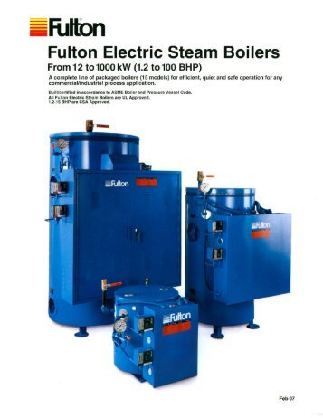 Fulton Electric Steam Boilers - Puerto Rico Suppliers .com