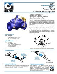 Pressure Relief & Pressure Sustaining Valve 50-01 650-01
