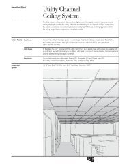 Utility Channel Ceiling System IC516 - Puerto Rico Suppliers .com